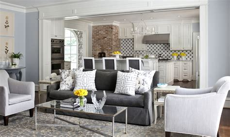 Grey Sofa Living Room Design Charcoal Gray Sofa Transitional Living Room Sherwin Williams At Home In Arkansas