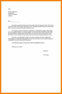 Resignation Letter Health Reasons by Exle Of Resignation Letter With Health Reason Docoments Ojazlink