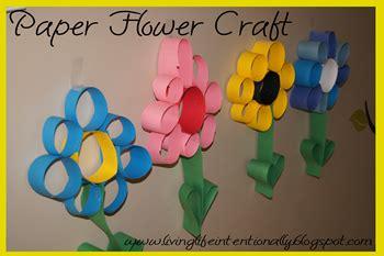 Paper Flower Craft For Preschoolers - 123 homeschool 4 me april 2012