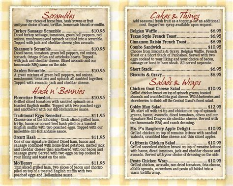 country kitchen restaurant menu kay s orcutt country kitchen orcutt breakfast restaurants