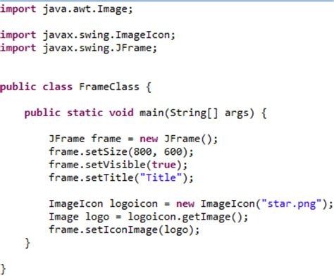 Java Set java jframe windows