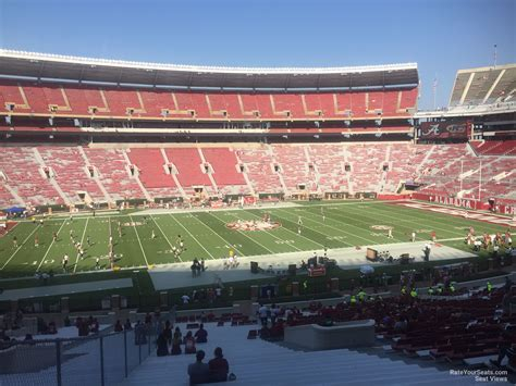 bryant denny stadium student section bryant denny stadium section ee rateyourseats com