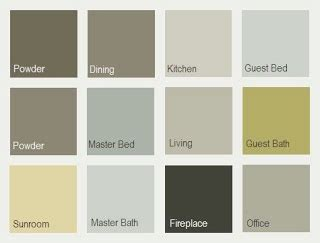 whole house color schemes sherwin williams whole house palette left to right top