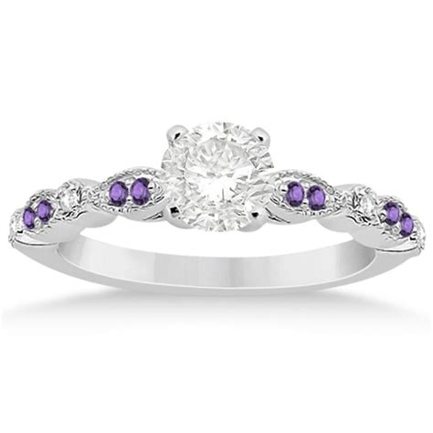 light amethyst engagement rings marquise dot amethyst engagement ring 14k white