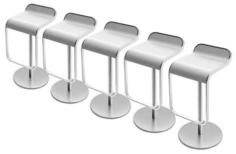 Lem 3m 77 By Serafindo lem adjustable bar stool pivoting wood seat lacquered