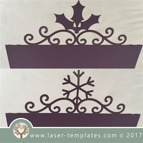 Shaped Place Card Template by Laser Cut 2 Place Cards Template