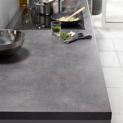 plan de travail cuisine effet beton plan de travail stratifi 233 effet b 233 ton brut mat l 300 x p