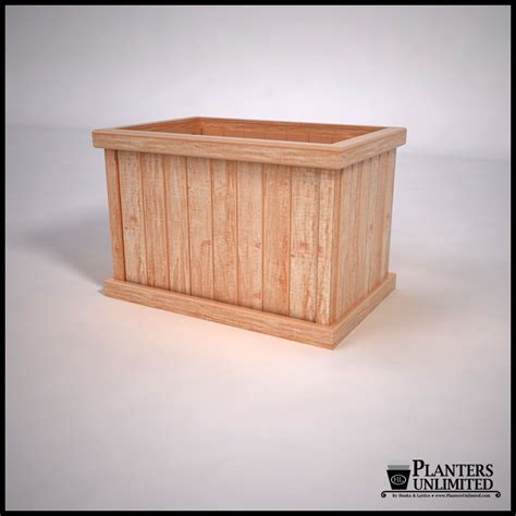 commercial cedar planter box rectangle outdoor
