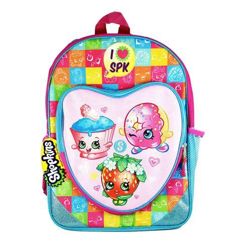 Pocket School Backpack 0318 shopkins backpack 16 quot with shaped zipper front pocket school bag for ebay