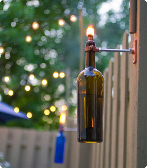 Backyard Torches by Diy Project Erik S Recycled Wine Bottle Torch Design Sponge