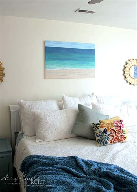 Room Wall Design diy beach painting create faux texture for real looks