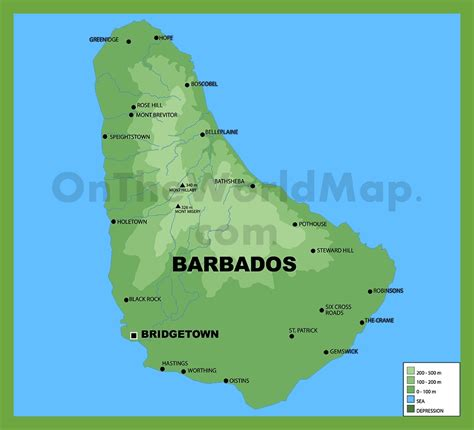 barbados on world map barbados on a map my