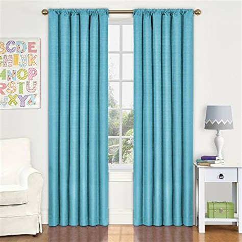 Eclipse Nursery Curtains Eclipse Kendall Room Darkening Thermal Curtain Panel Turquoise 63 Inch