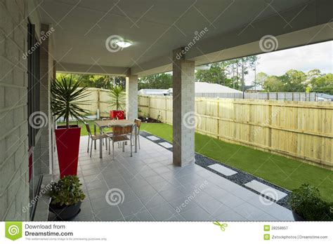 contemporary backyards modern backyard royalty free stock photography image 28258857