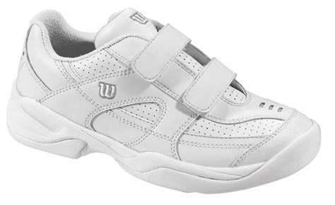 wilson advantage court iv velcro junior tennis shoes