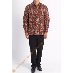 Kebaya Panjang Pl 02 kemeja katun lereng motif lereng kombinasi batik mega