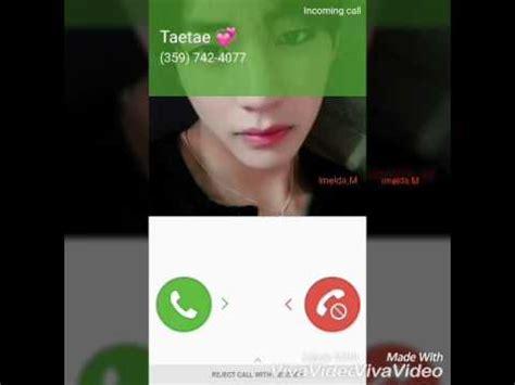 kim taehyung video call taehyung bts is calling me facecallforfun youtube