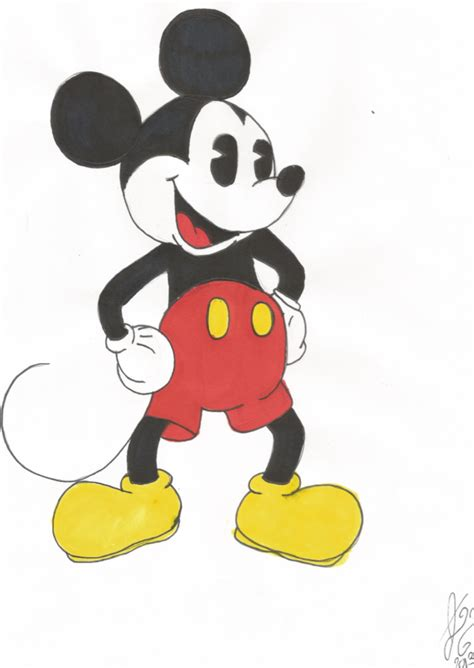 Mickey Original mickey mouse original traditional by expeditionfantasy on