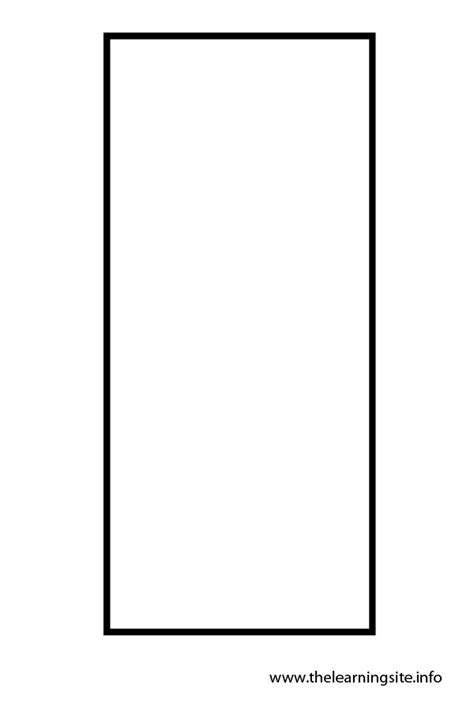 Rectangle Outline Clip by Rectangle Coloring Pages