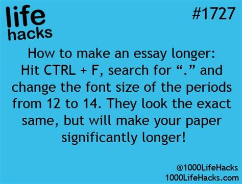 How To Make Your Paper Look - how to make an essay longer find all the periods ctrl