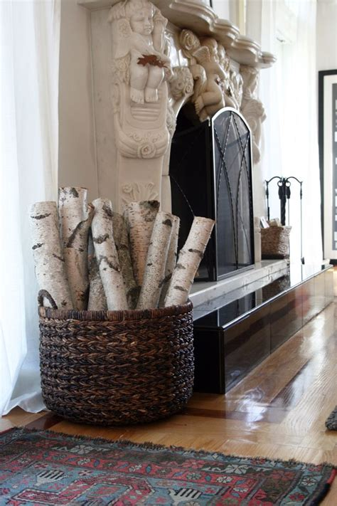 Decorative Birch Fireplace Logs by Even Though We Converted To Gas Now I To Put A