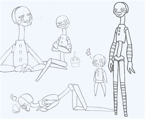 Fnaf 1 Sketches by Fnaf 2 Few More Puppet Sketches By Metacookie On Deviantart