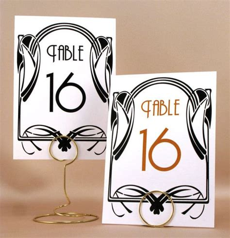 deco table numbers deco table number cards trivia