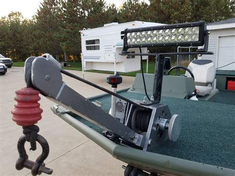 jet boat anchor winch 19 lowe roughneck river jet boat michigan sportsman