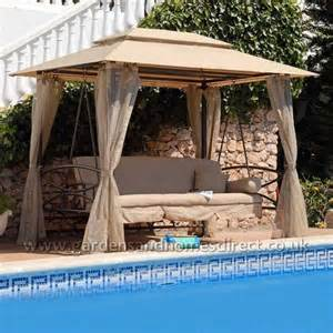 Suntime Luxor Swing Gazebo Bed by Replacement Canopy For Beige Suntime Luxor Gazebo Swing