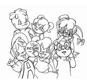 Chipettes From Alvin And The Chipmunks Coloring Pages For