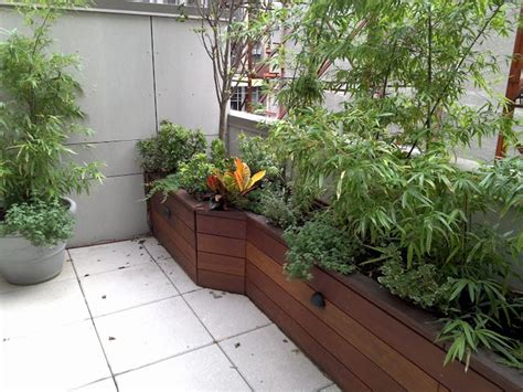 Best Wood For Outdoor Planters best custom wood planter boxes by nyplantings asian