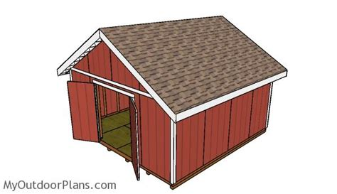 gable shed roof plans myoutdoorplans