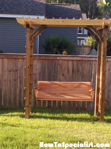 swing arbor plans diy arbor swing howtospecialist how to build step by