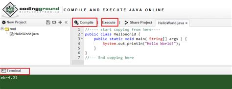 Tutorial Online Compiler | online java compiler and runner java learning academy