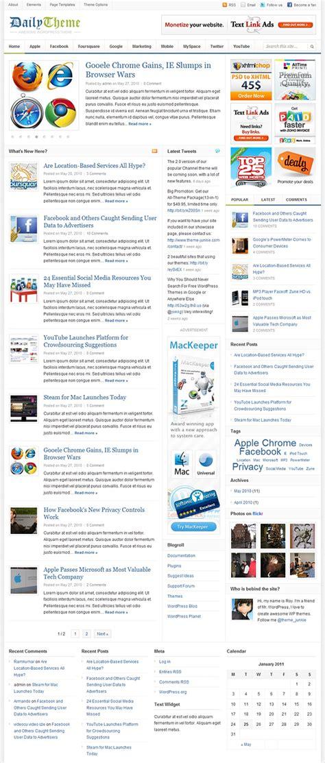 theme junkie daily daily prosty i elegancki szablon na serwis informacyjny