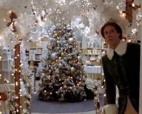 In one of my favorite scenes elf decorates the department store with