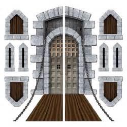 medieval decorations pack of 9 medieval halloween castle door windows cutouts