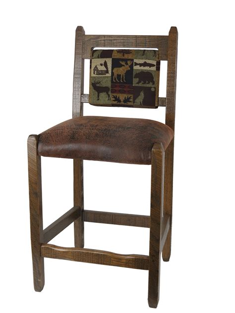 counter height leather bar stools counter height barnwood bar stool with brown leather