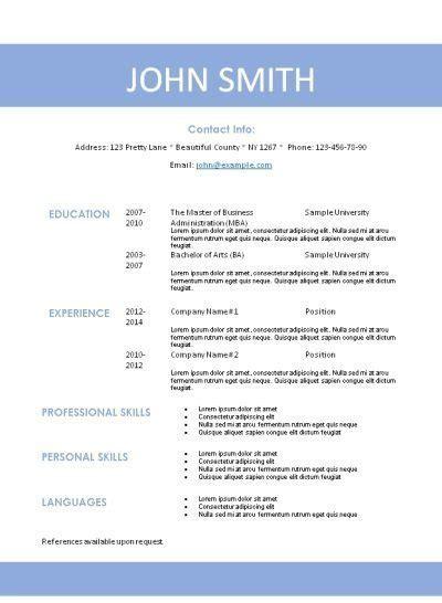 resume template microsoft word resume sample free career resume