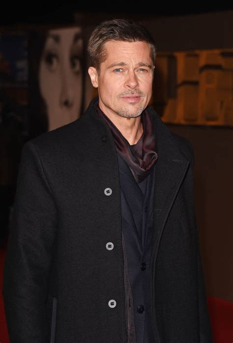 Pitt On by Brad Pitt Looking Lean And Stylish At The Uk Allied Premiere