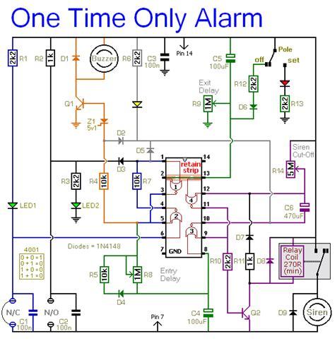 burglar alarm burglar alarm circuit schematic diagram