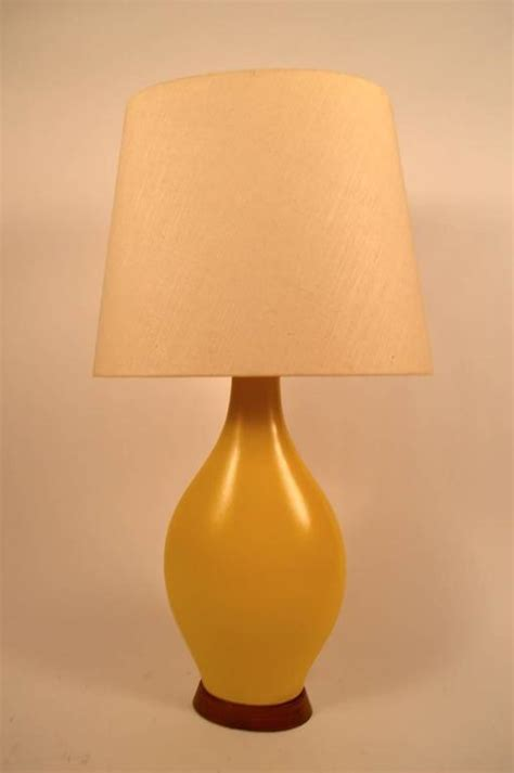 Yellow Ceramic Table L Large Teardrop Form Yellow Ceramic Table L For Sale At 1stdibs