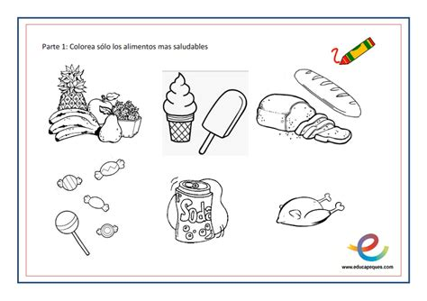 alimentos nutritivos para los niños h 225 bitos de alimentaci 243 n sana para ni 241 os peque 241 os fichas