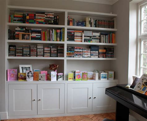 fitted wardrobes and bookcases in shelving and
