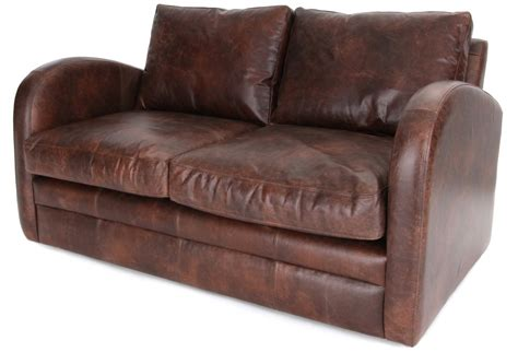 vintage leather sofa bed camden vintage leather 2 seat sofa bed from old boot sofas