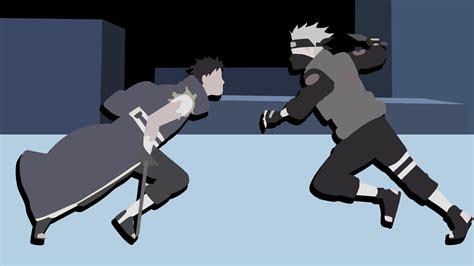 anime vs obito minimalist kakashi vs obito hd wallpaper and