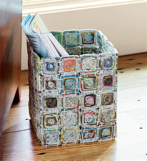Paper Recycling Crafts - 25 best ideas about newspaper crafts on book