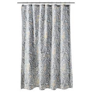 Paisley Shower Curtains Threshold Paisley Shower Curtain Yellow