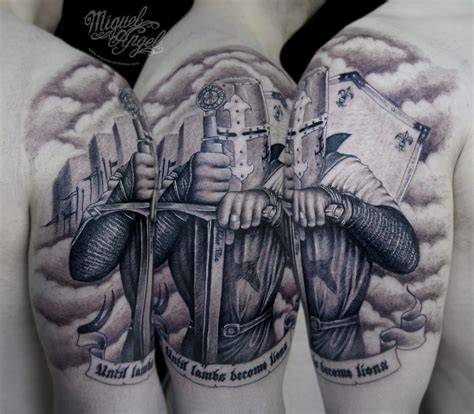 knight tattoo 20 epic tattoos symbology