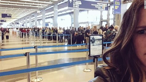 United Domestic Checked Bag airport security wait times passengers facing insane